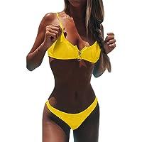 Conjunto De Bikini Mujer De Color SóLido, Linlink