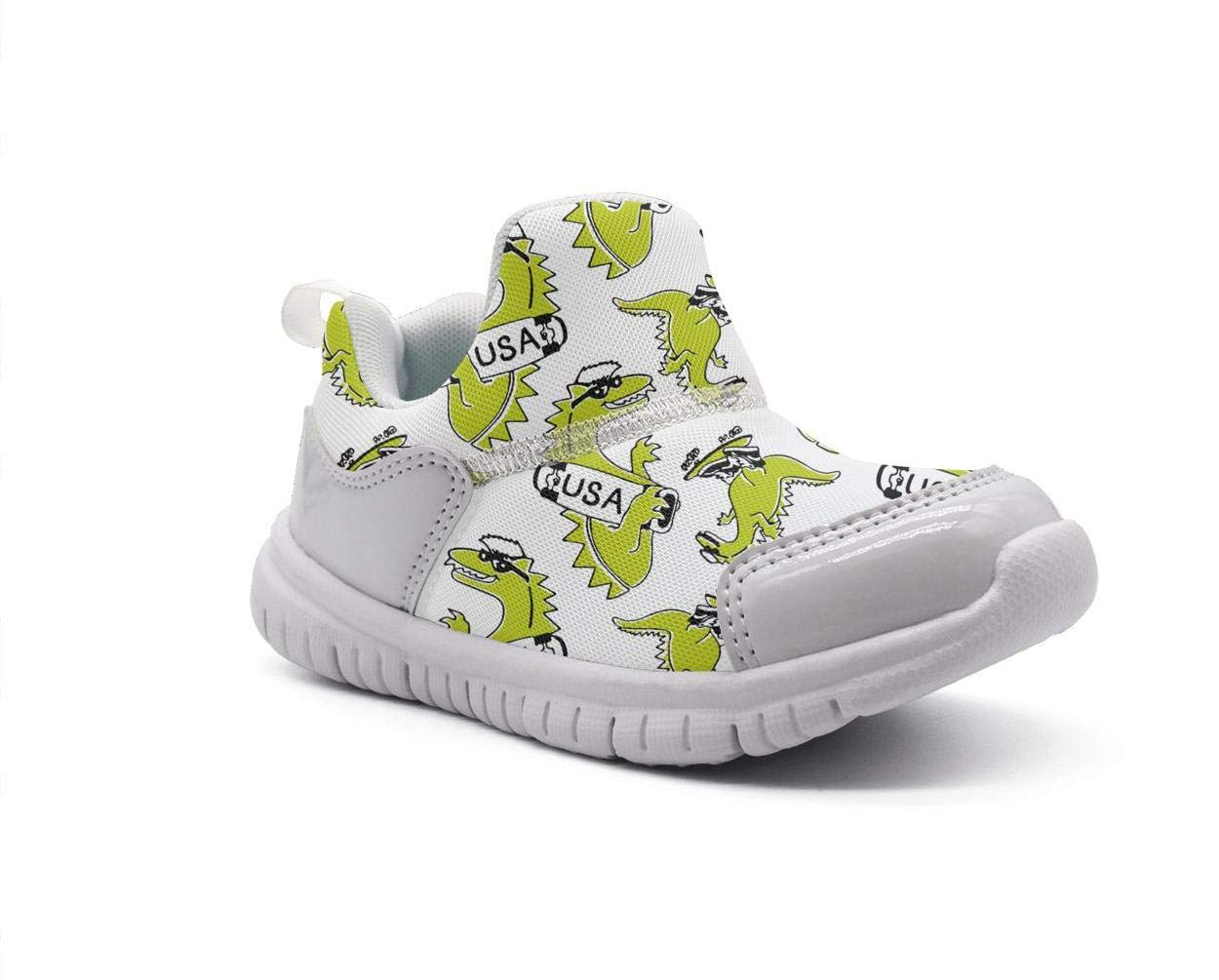 ONEYUAN Children Dinosaur New York van/ï/¼osaur USA White Kid Casual Lightweight Sport Shoes Sneakers Walking Athletic Shoes