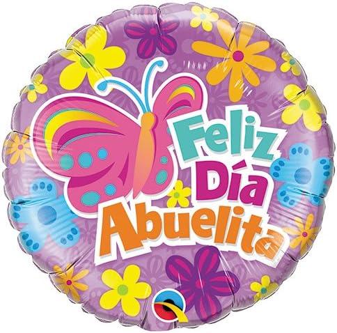 Globo de foil r18 (45,72 cm) feliz día abuelita: Amazon.es: Hogar