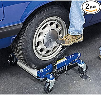 Car Car Skate Vehicle Positioning Jack Foot Pump Hydraulic Tyre Lift Roller Dolly Hoist VEVOR Hydraulic Wheel Dolly 1500 lbs // 680 kg*2 pcs Tyre Width 12inches, 4 double-bearing universal casters