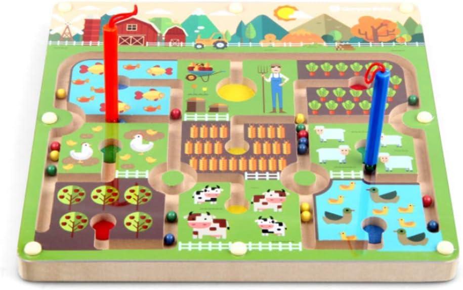 Gobus Perlas Laberinto Rompecabezas Educativo Juego de Mesa Laberinto Interactivo Juguetes para niños (Gran Granja): Amazon.es: Juguetes y juegos