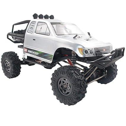 Remo RC Coche Teledirigido Alta Velocidad 2.4GHZ 4WD 1/10 Coche de Control Remoto, 1/10 4WD Coche RC Coche de Carreras eléctrico Off Road RC Monster ...
