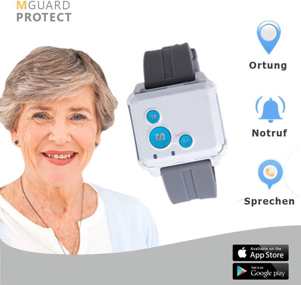 M de Guard/Emergencia pulsera/pulsera de botón de emergencia para personas mayores/Emergencia/Sistema de emergencia con GPS de localización