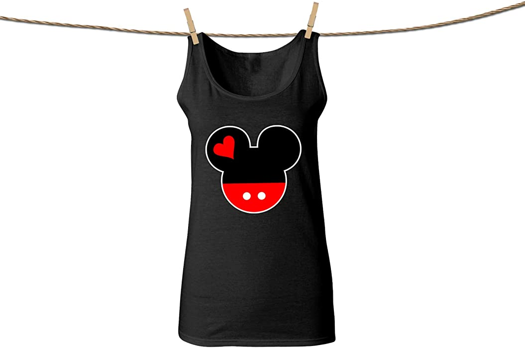 fb74151d60f2f Disney Family Trip Tank Tops for Women Mickey Mouse Head Disneyland Women True  Size Camisole Shirts