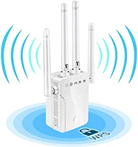 WiFi Extender, WiFi Booster, Wireless Extender Covers Up to 2500 Sq.ft and 25 Devices, Up to 1200Mbps Dual Band WiFi Signal Booster, Internet Booster Extend WiFi Signal to Smart Home (White)