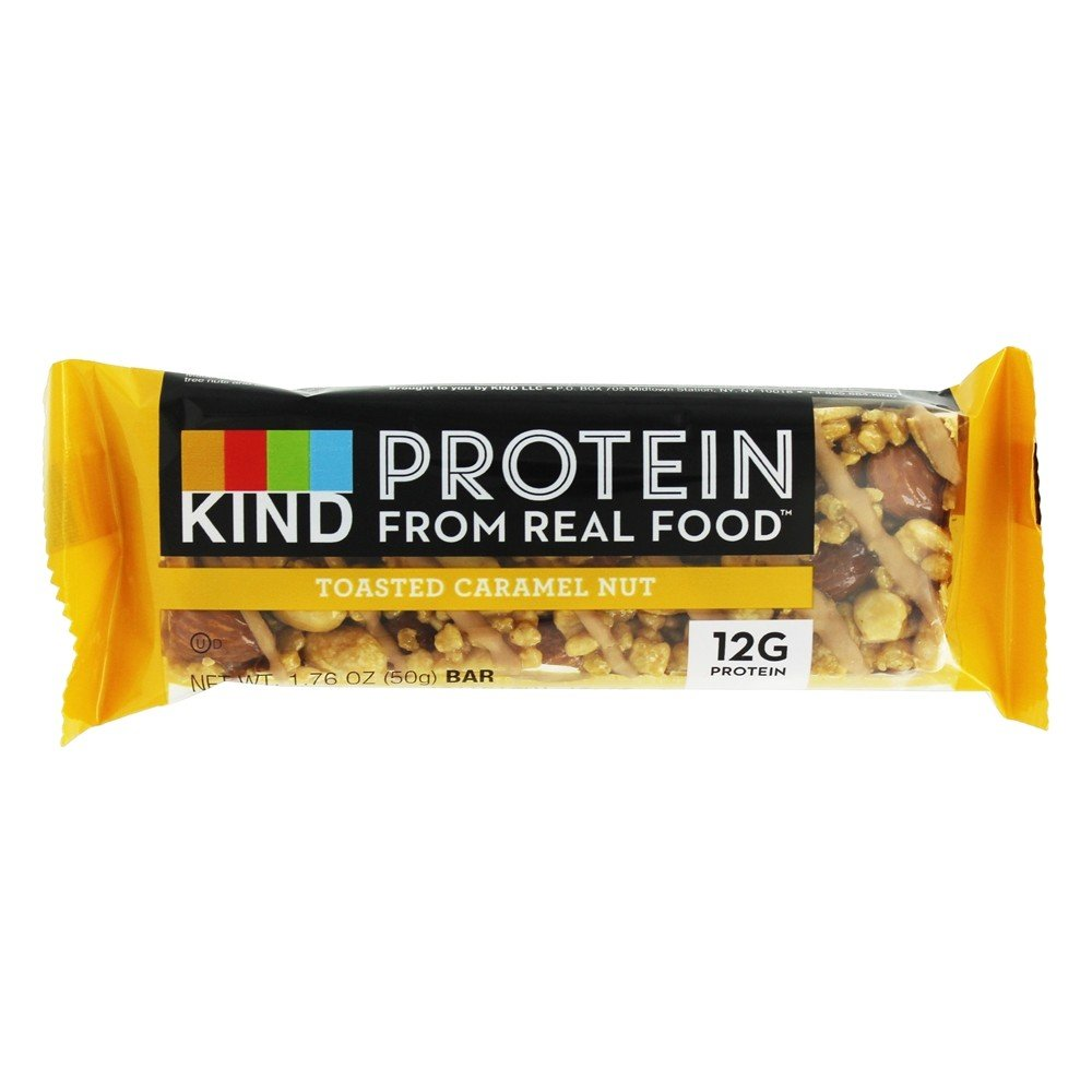 Kind Bar - Gluten Free Protein Bar Toasted Caramel Nut (Pack of 36)