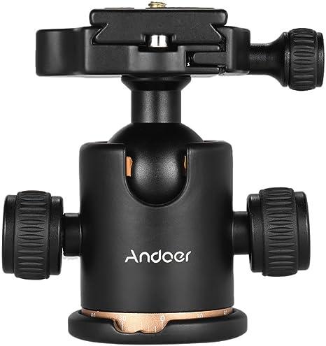 Andoer Rótula,Pro Ballhead de Metal 360°Giratoria con 1*1/4 Plato ...