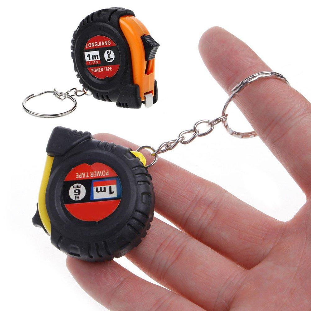 Finance Plan 1m Retractable Ruler Steel Tape Measure Key Chain Mini Pocket Measuring Tool Random Color