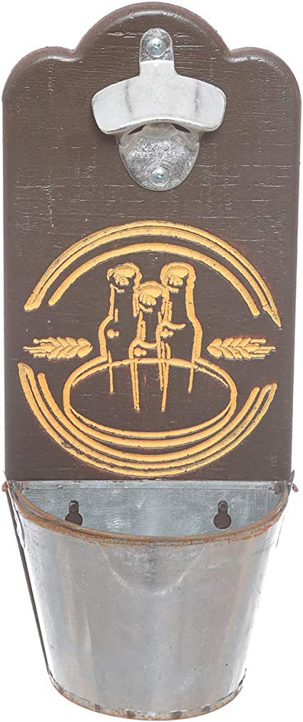 Un Regalo per Pap/à Goldmiky Apribottiglie da Parete Apribottiglie da Muro,Cavatappi a Muro da Legno con Stile Retr/ò Buon Regalo per Padre e Amic,Accessori Cucina Stile A
