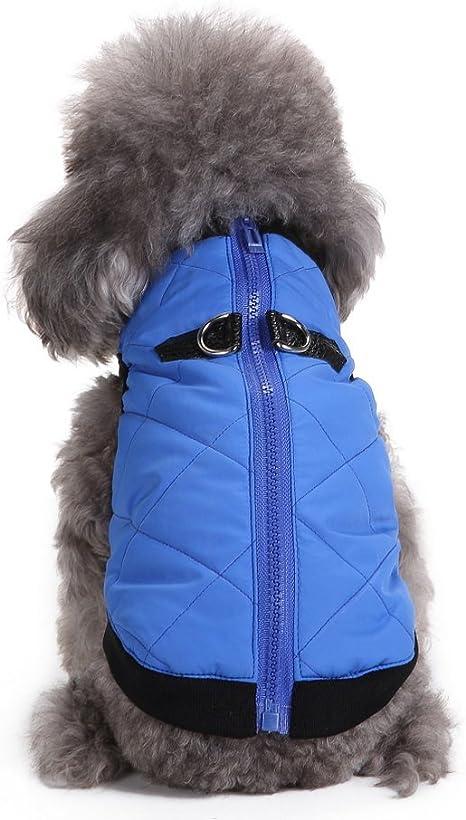 Cold Weather Pet Dog Cat Coats Soft Padded Vest Harness Jacket Cat Costume Small Dog Coat Clothing M Dog Cat Winter Jacket Coat