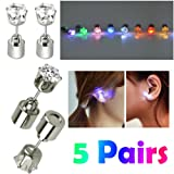 Amazon Price History for:AYAMAYA 5 Pairs Changing Color Christmas Light Up LED Earrings Studs Flashing Blinking Earrings Dance Party Accessories unisex for Men Women