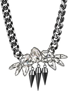 DSE Swarovski Rocking Spike Necklace and Pendant ASI GS For Women, Silver, 5291263