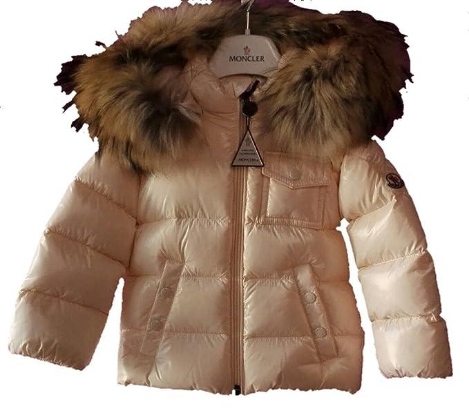 moncler abrigos con capucha y piel (18 meses)