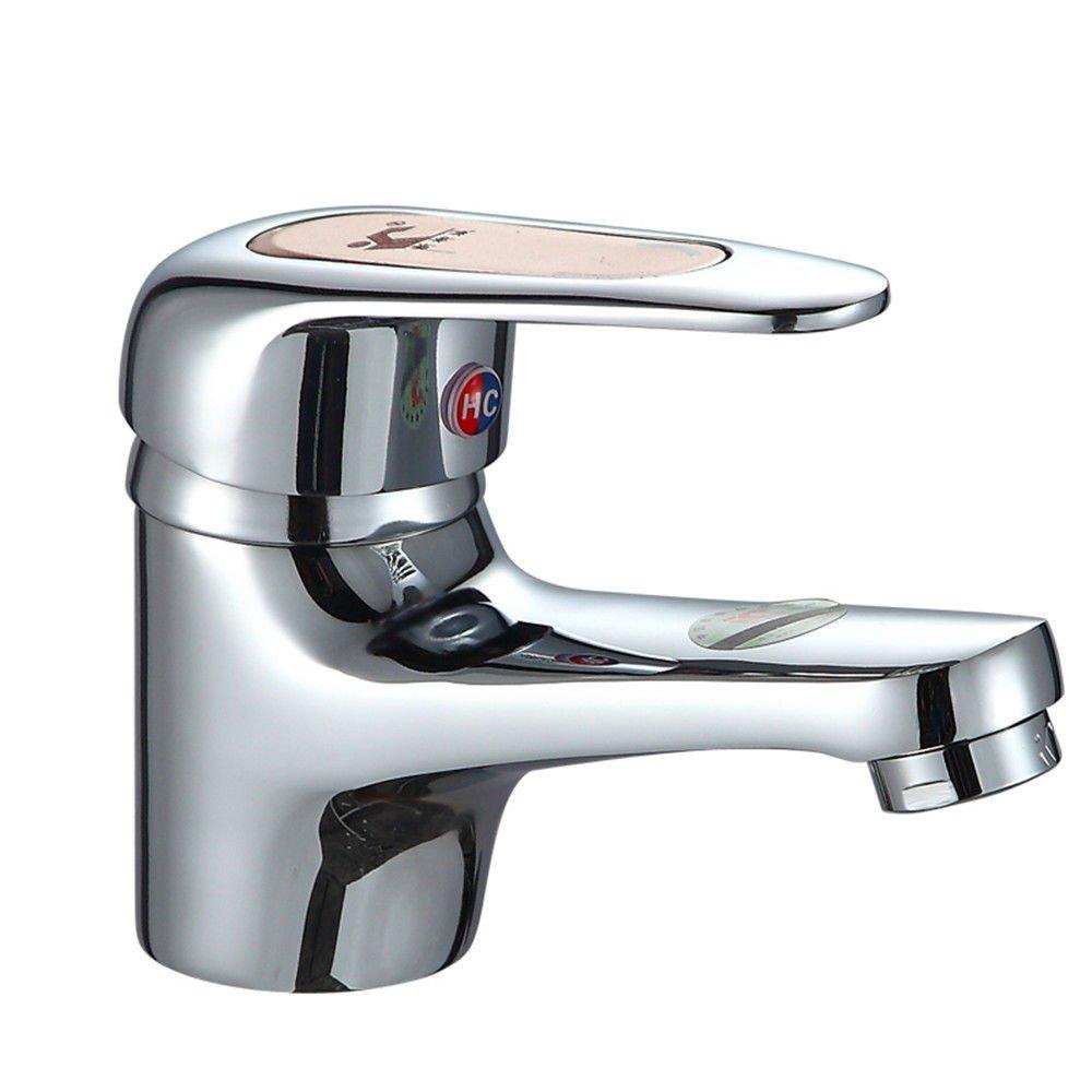 MEIBATH Waschtischarmatur Badezimmer Waschbecken Wasserhahn Küchenarmaturen Messing mit Einem Hebel 1 Bohrung Heißes und Kaltes Wasser Wasser düsen Küchen Wasserhahn Badarmatur