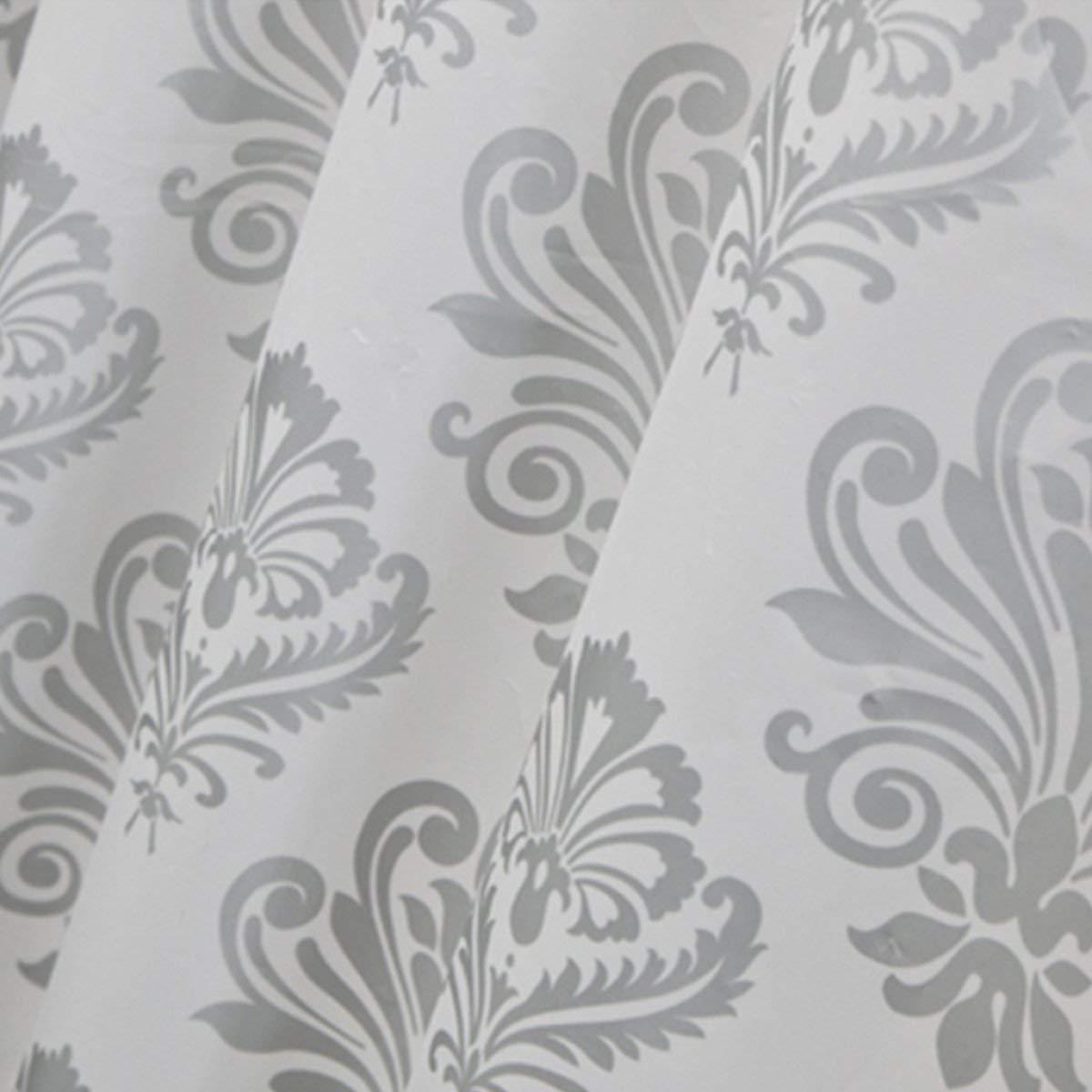 Der European Pastoral Style Foggy Translucent Matt Thickening EVA Bathroom Free Punching Shower Curtain Waterproof and Mildew Bathroom Accessories (Size : 180cm180cm) by Der (Image #4)