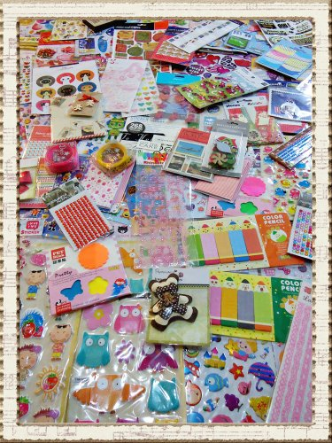 Wholesale New 230 Sheets (8,000 Pcs. Up) Lot 037 Scrapbooking Supplies Scrapbook Paper , Scrapbook Stickers , Ribbon ,Etc (Scrapbooking Lot Scrapbook Paper)