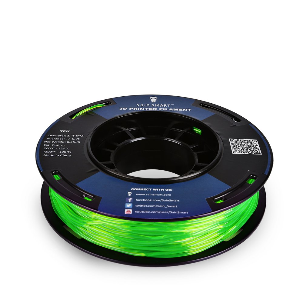 SAINSMART 5 Colors - Small-Spool TPU Flexible 3D Printing Filament 1.75mm 250g/0.55lb (Multicolored)