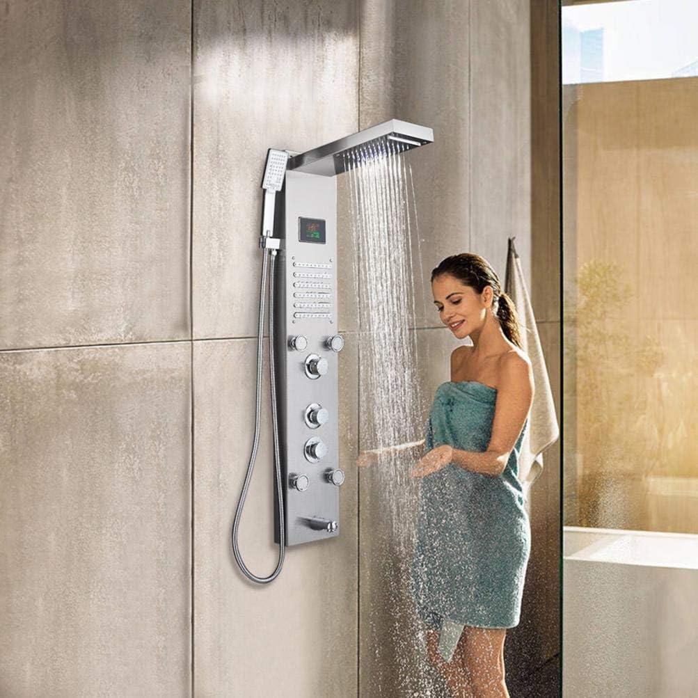 Stainless Steel Shower Panel Bathroom Shower Rainfall Shower Head /& Handheld Combo//Tower System LED Rainfall Waterfall Shower Head//Bathroom Wall Mount Shower Shower Head