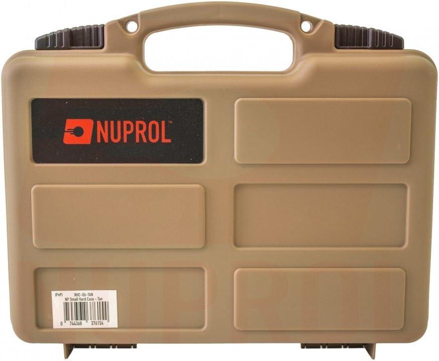 Nuprol Airsoft Petite Pistolet Arme Field Transport Coque Rigide rembourr/é
