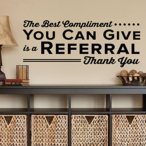 You Can Give Is A Referral Thank You. - 0342 - Home Decor - Wall Decor - Chiropractic - Health - Thank you - Doctor - Thanks ()