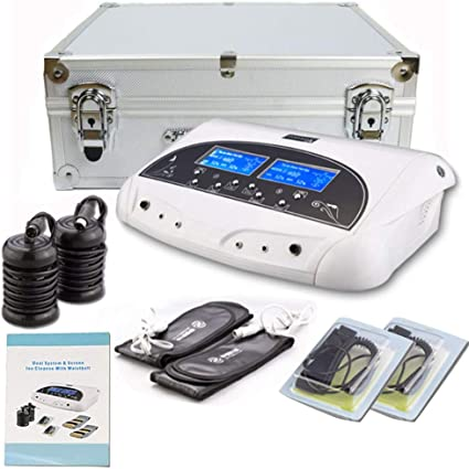 Amazon Com Lofan Dual Ionic Ion Detox Foot Bath Spa Machine Chi Cleanse Foot Detoxification Machine System With Far Infrared Ray Belt Large Lcd 110v For Two People Use Health Personal Care
