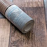 Akea Reclaimed Wood Wallpaper Roll, Vintage Faux Wood Plank Look Wallpaper, for Home Decal, Restaurant, Cafe etc. Size 20.8inch x 32.8ft, 57 sq.feet