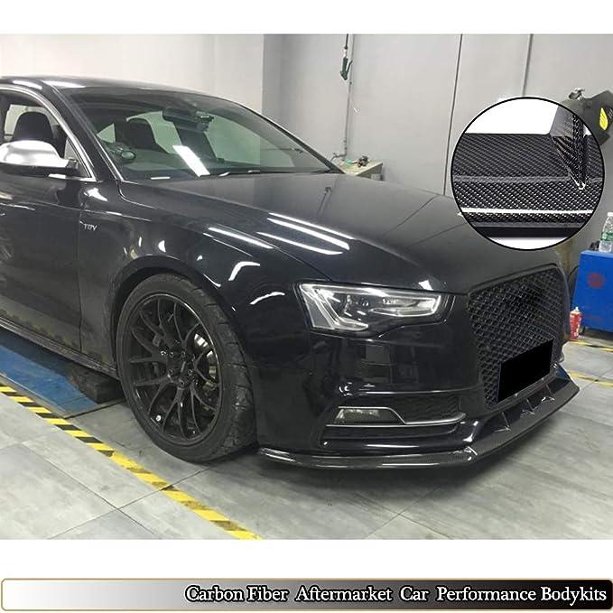 Para Audi A5 S5 8T 2012 - 2016 mcarcar Kit parachoques delantero Labio Alerón Difusor cuerpo de la barbilla Aftermarket lavado de cara de fibra de carbono ...