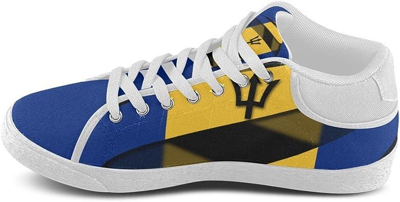 InterestPrint The Flag of Denmark Chukka Sneakers Women Canvas Shoes