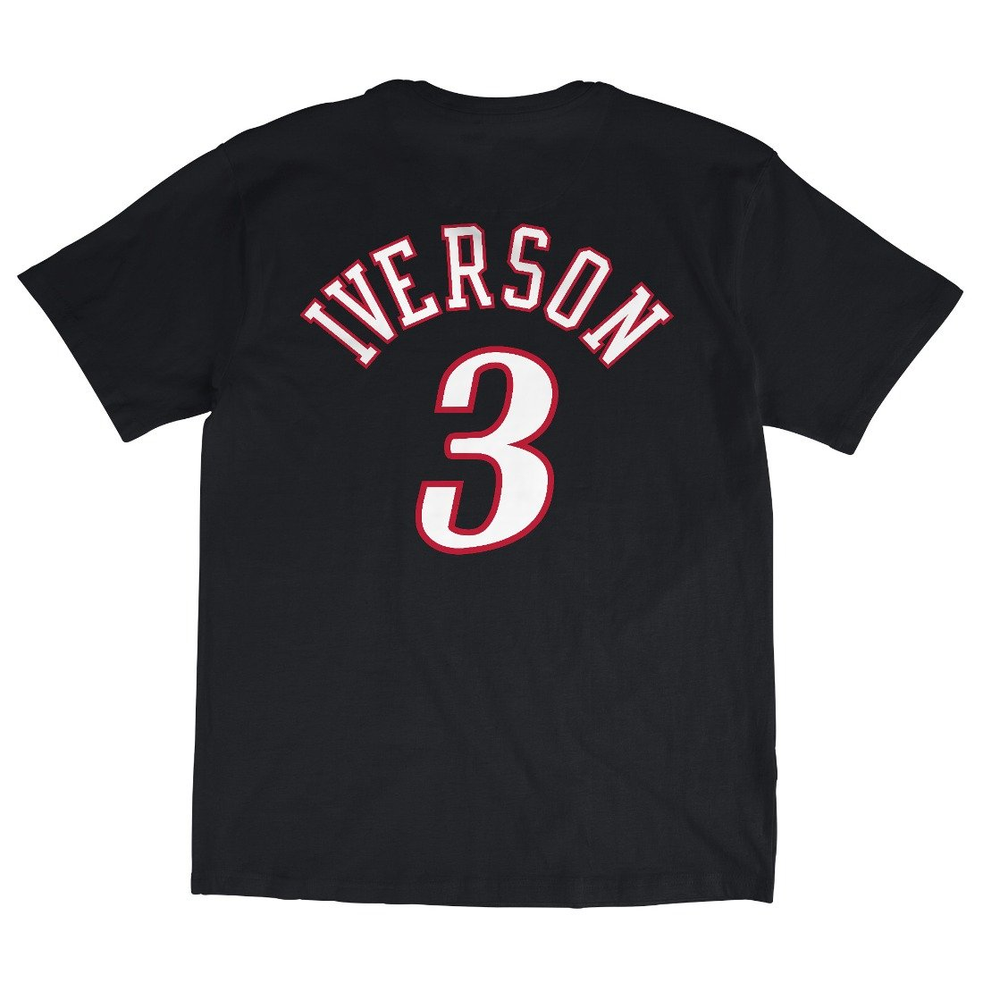 fba815960ba Amazon.com : Mitchell & Ness Philadelphia 76ers Allen Iverson HWC Retro  Name and Number Tee Black : Sports & Outdoors