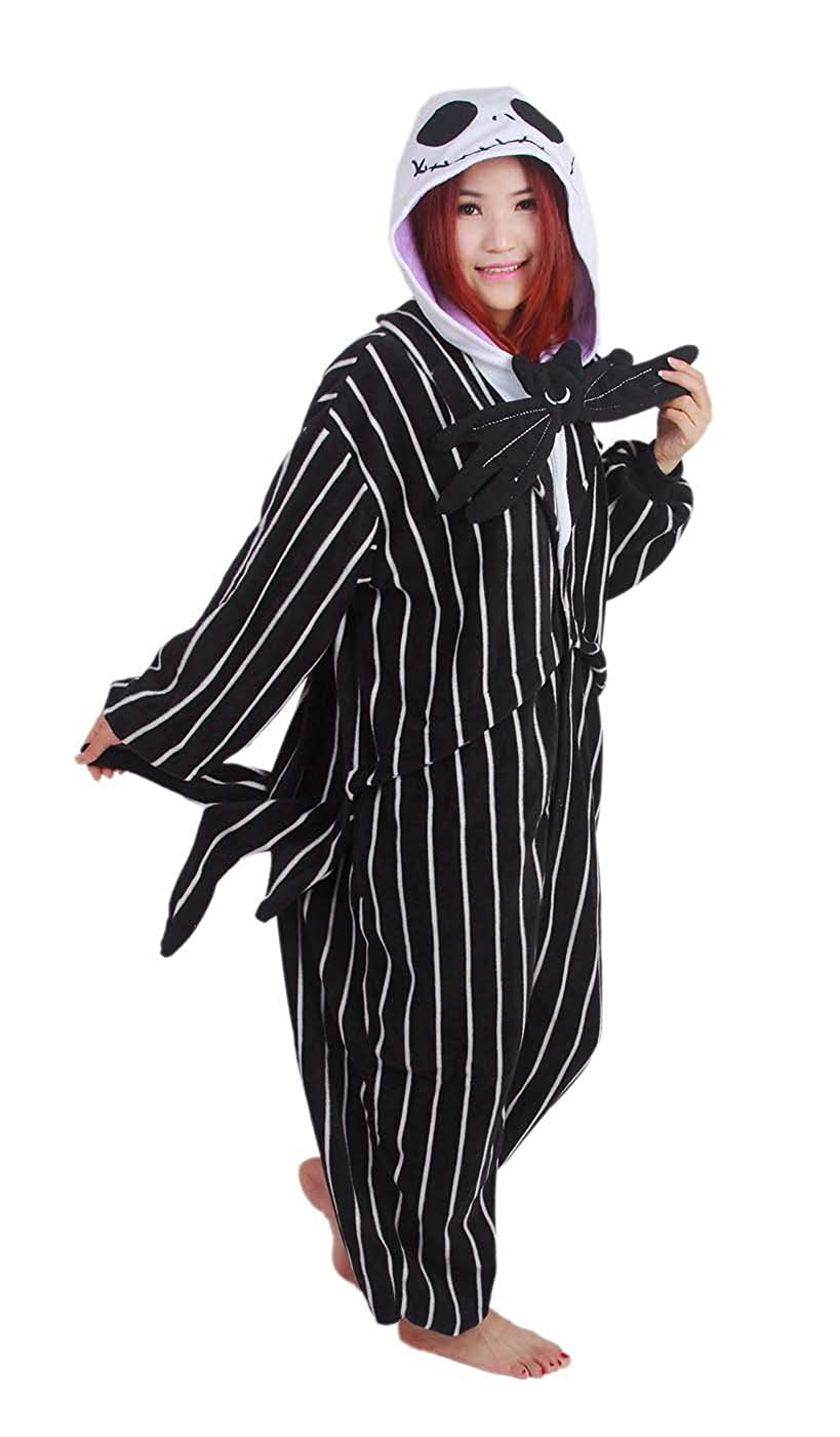 294802706c Women Men Adult Jack Skellington Skeleton Unisex Anime Christmas Halloween  Carnival Cosplay Kigurumi Outfit Costume Onesies Pajamas Romper Clothing  Piece ...