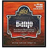 GHS Strings PF160 5-String Banjo Strings, Phosphor Bronze, Medium (.011-.026)