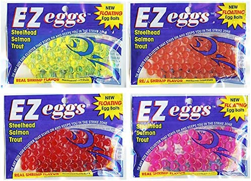 red roe scented soft plastic bait 6 pack Salmon Egg Clusters