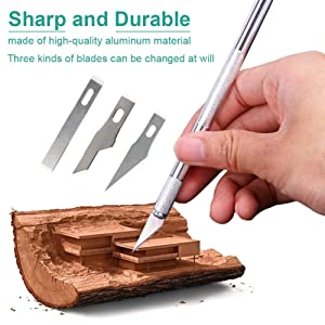 105 PCS Precision Carving Craft Hobby Knife Kit Includes 92 PCS Carving Blades with 2 Handles, 11 PCS SK5 Art Blades with 1 Handles, Cutting Board,Steel Rule for DIY Art Work Cutting, Hobby, Scrapbook (Color: 105 Pcs Tool Kit)