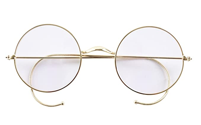 72d0f3d14c5 Agstum Round Wire Rim Prescription Ready Glasses Frame Without Nose Pads  (Gold