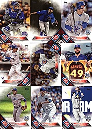 2016 Topps Update Chicago Cubs Baseball Card Team Set 19 Card Set Includes Kris Bryant Anthony Rizzo Kyle Schwarber Willson Contreras Ben
