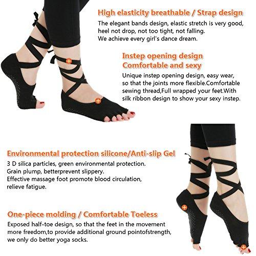 Dubeebaby Women's Non Slip Pilate Yoga Socks, Anti Skid Bottom with Sticky Grips