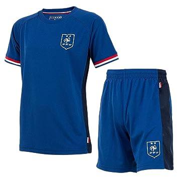 FFF Maillot & Short de Foot Equipe de France Enfant '2
