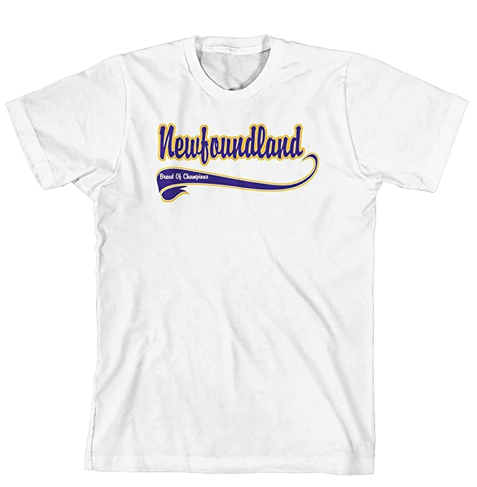 f133ed48cdcd Image Unavailable. Image not available for. Color  Newfoundland Breed of Champion  Cahoon s Closet Brand T-Shirt