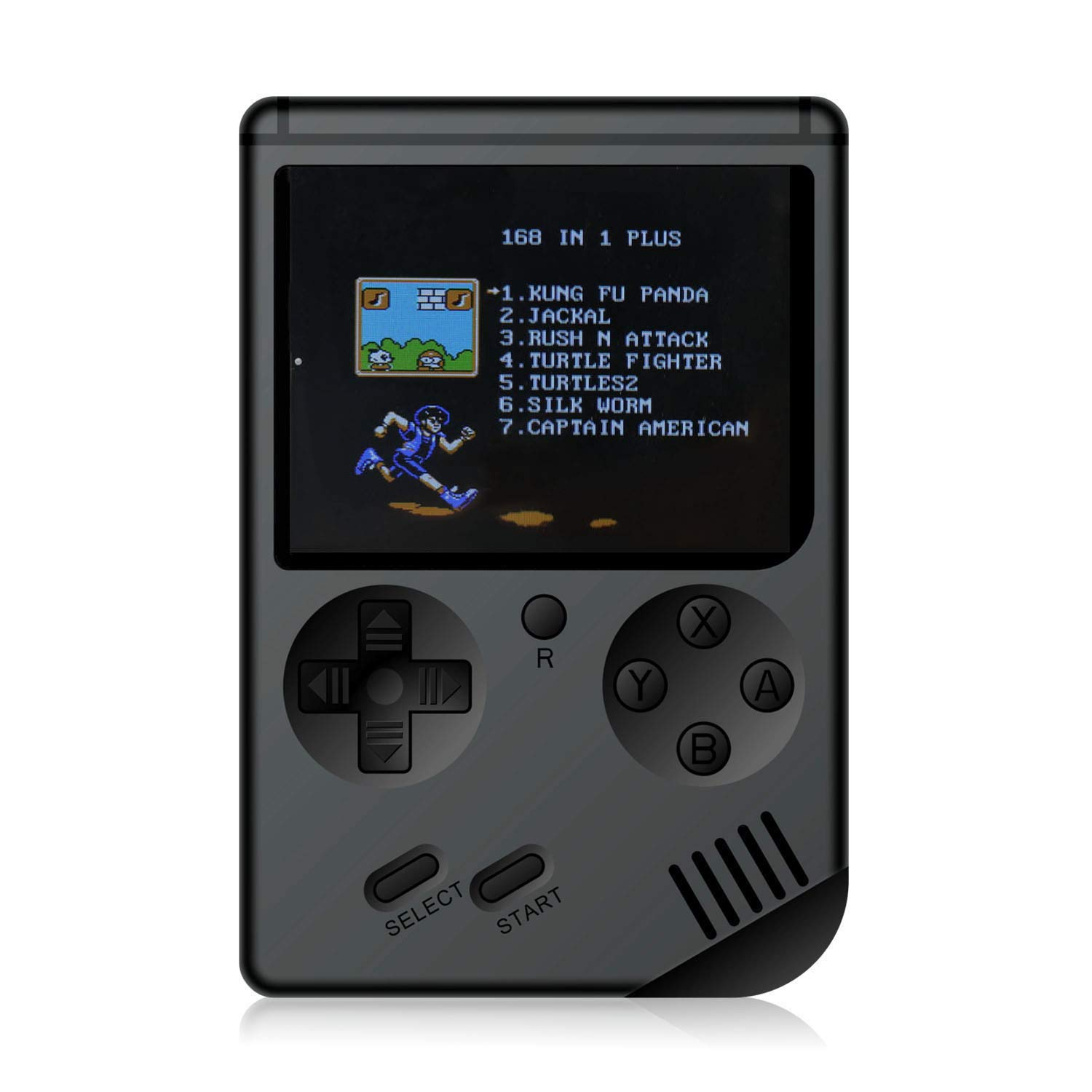 JadeTech Retro Handheld Games Console - 168 Classic Games 8 Bit Games 3 inch Screen Video Games with AV Cable Play on TV (Black)