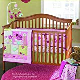 New Pink Ladybug Baby Girls 7 Pieces Crib Bedding Set With Bumper