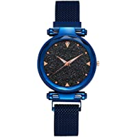 KDENTERPRISE Casual Designer Black Dial Combo of Magnet Watch - Pair of 1 - for Girls & Women (Blue)