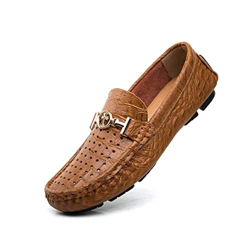 Zapatos de Hombre 2018 Slip On Driving Shoes - Mocasines Casuales Elegantes Moda - Cuero - Correa de Metal Across The Vamp - Plantilla Acolchada: Amazon.es: ...