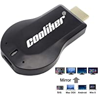 Wireless TV HDMI Adapter, Cooliker Streaming Sticks Miracast WIFI Display Dongles Digital AV to HDMI HDTV Converter Adaptor Connector for PC / Mobile Phones, Support DLNA Airplay Mirror Function