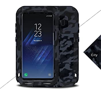 LOVE MEI Samsung S8 Plus Funda, Heavy Duty Metal Aluminio Carcasa Extreme Alta Resistencia Protector Shockproof a Prueba de choques Cover para Samsung ...