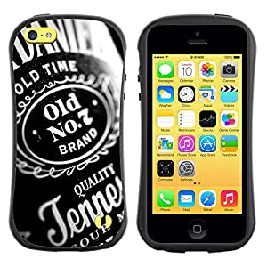 All-Round híbrido de goma duro caso cubierta protectora Accesorio Generación-I BY RAYDREAMMM - Apple iPhone 5C - Whiskey Alcohol Bottel Party Quality Design