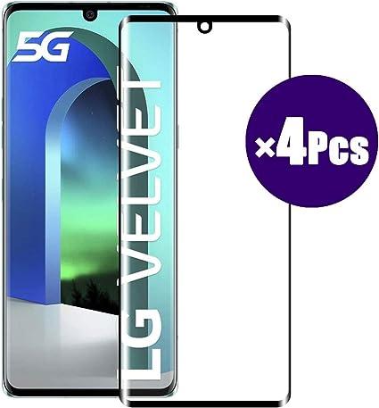 "Image ofWLSM 4 x Unidades Protector de Pantalla para LG Velvet Cristal Templado Anti-Golpes Vidrio Templado Premium Anti-Huella Ultra Transparente para LG Velvet 6.8"""