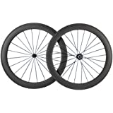 Queen Bike 700c 60mm 3k Superlight Carbon Clincher Wheelset Cycling Racing Wheels 20/24h
