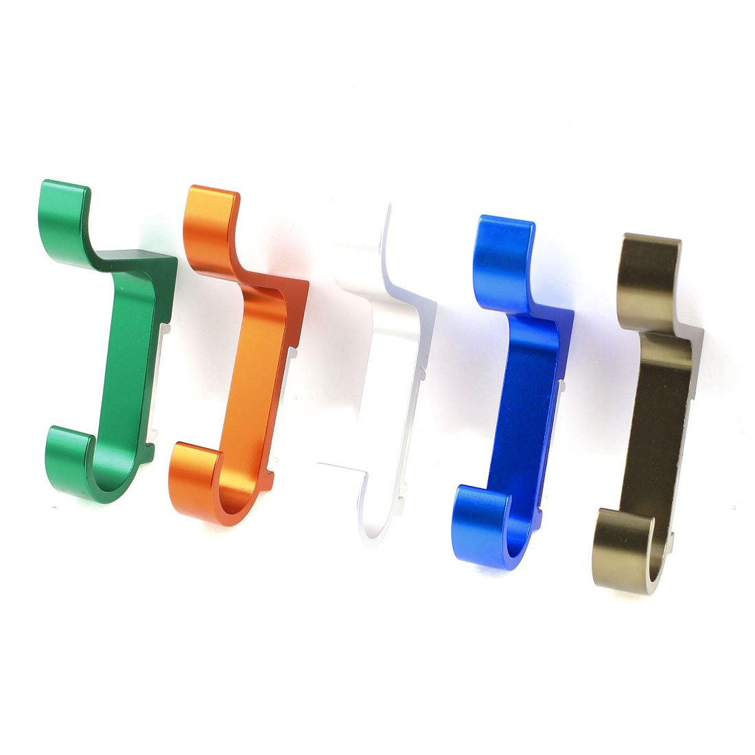 5 x Multicolor Aluminum Hat Coat Clothes Holder Robe Hooks Wall Hanger