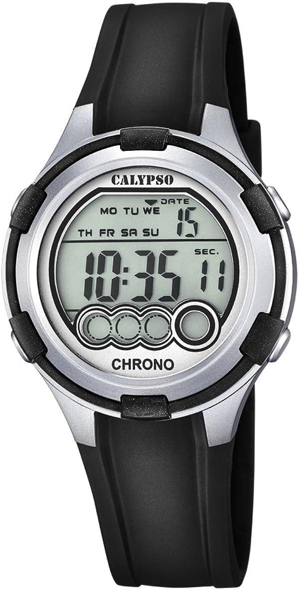 Calypso Mujer Reloj Digital con Pantalla LCD Pantalla Digital Dial y Correa de plástico en Color Negro K5692/2