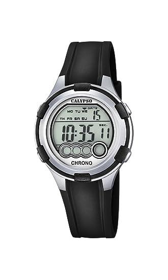 Calypso Mujer Reloj Digital con Pantalla LCD Pantalla Digital Dial y Correa de plástico en Color Negro K5692/2: Amazon.es: Relojes